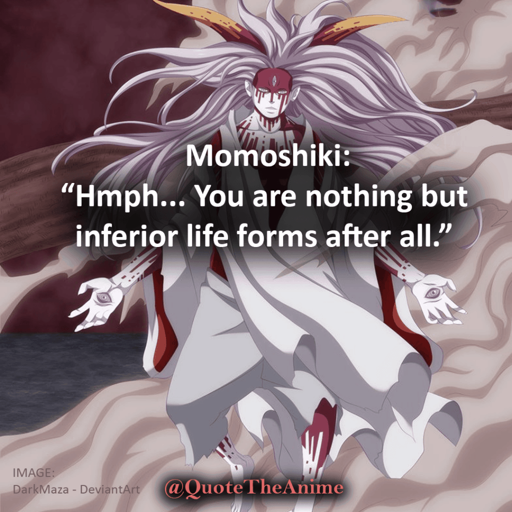 """Hmph.. You are nothing but inferior life forms after all.""""~Momoshiki-boruto-quotes"""