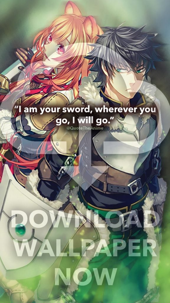 download-wallpaper-phone-rising of the shield hero-raphtalia-quote-i-am-your-sword