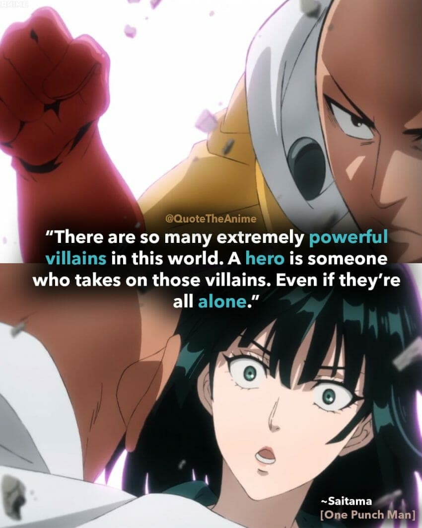 one-punch-man-saitama-quotes-a hero is someone who takes on villains all alone