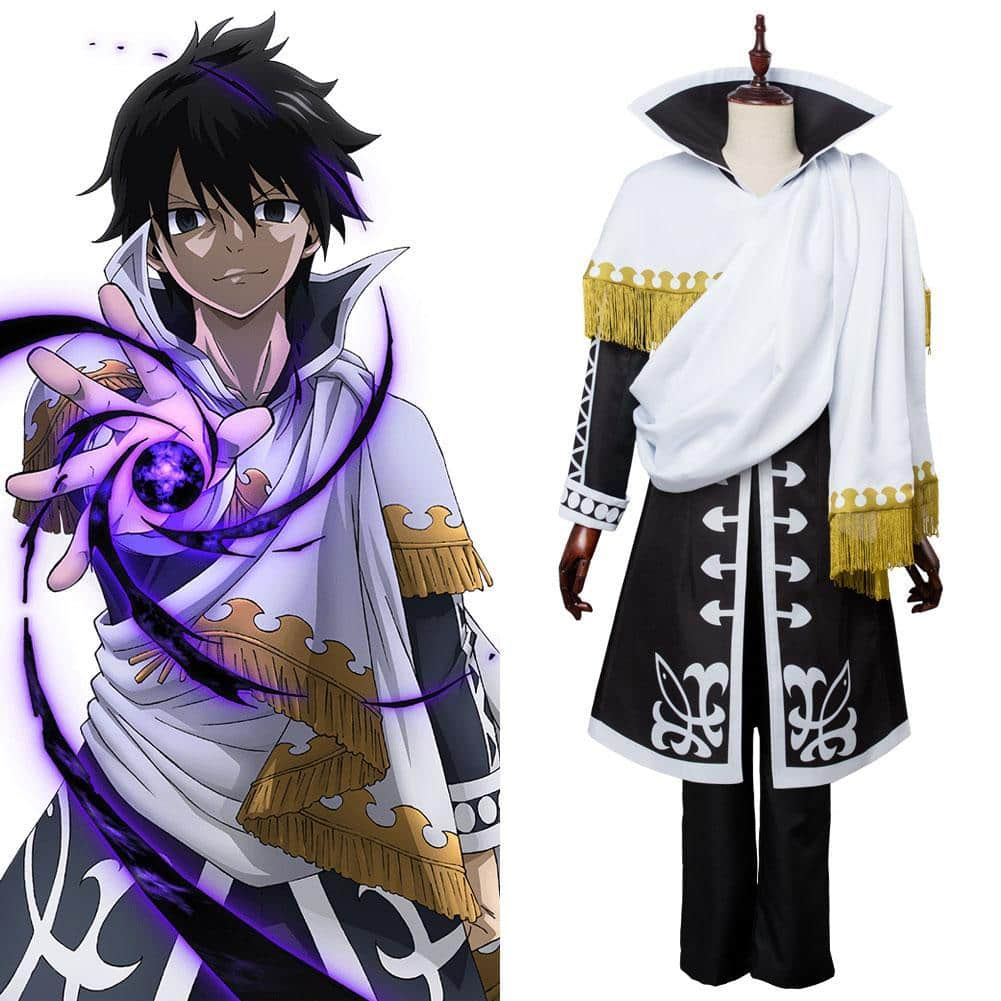 Zeref Fairy Tail Season 5 Zeref Dragneel Emperor Outfit Cosplay Costume