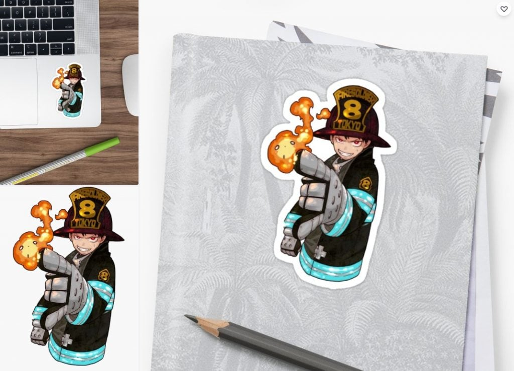 Shinra Sticker. Fire Force Sticker