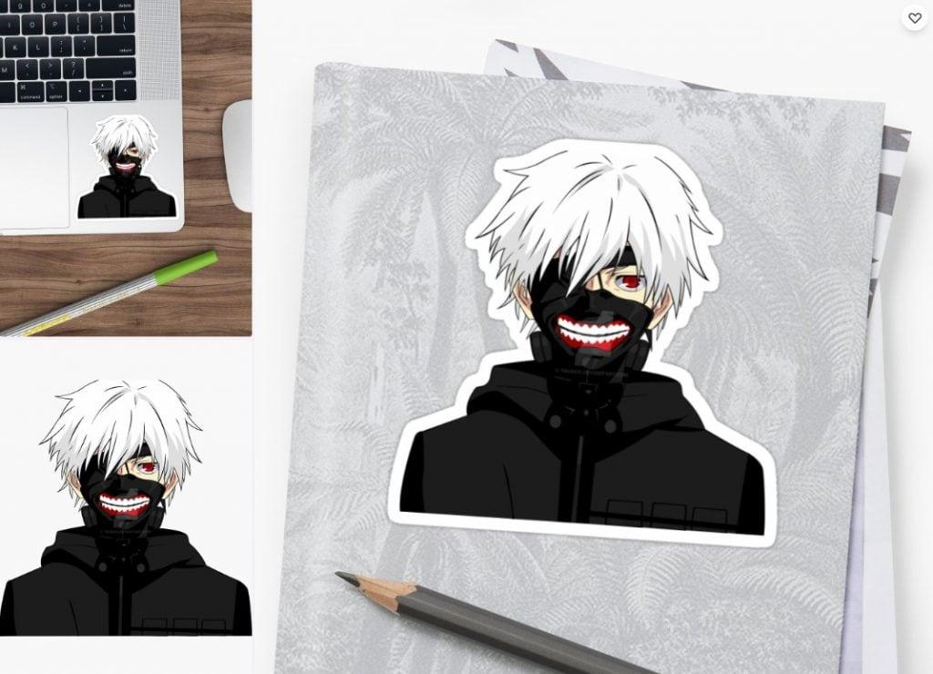 Ken Kaneki Tokyo Ghoul Sticker