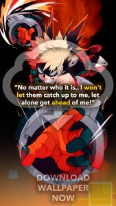 bakugou wallpaper, Hero Academia Wallpaper, Bakugo wallpaper, Anime wallpaper quote, 'I won't let them catch up to me.'