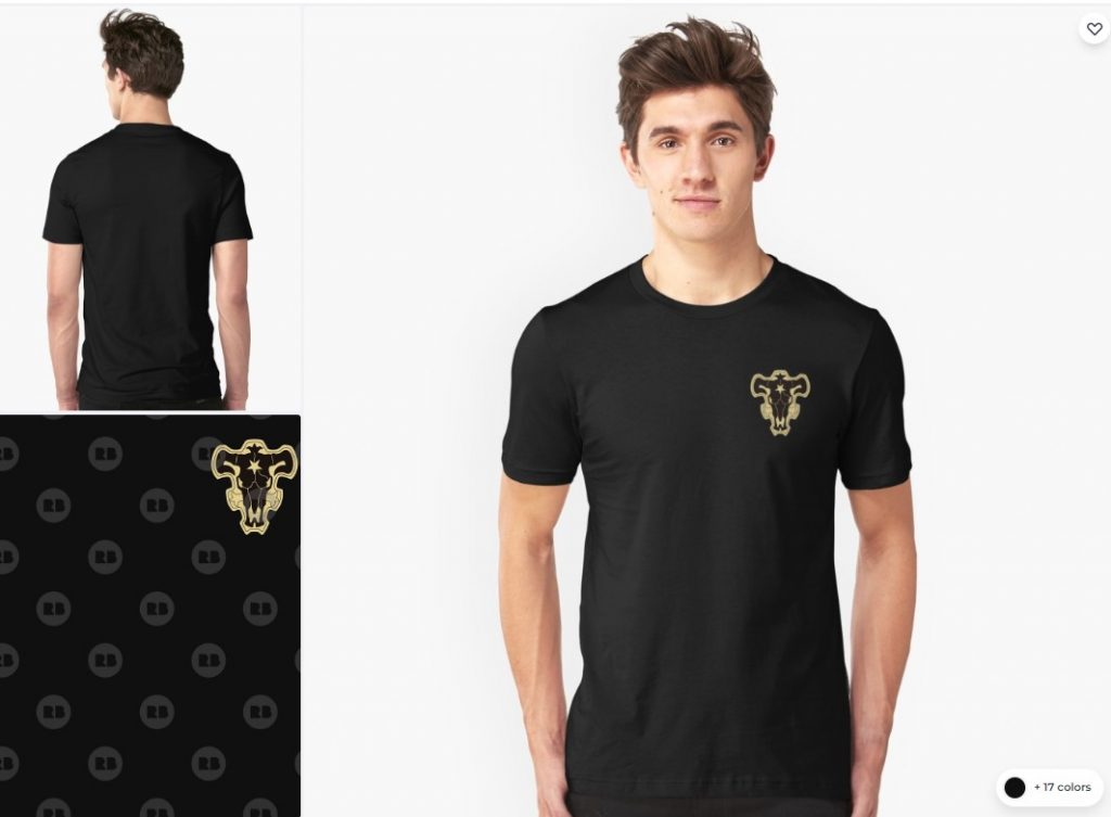 black bulls squad shirt, Black clover T-shirt