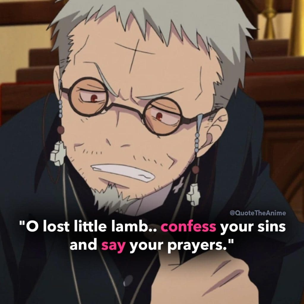 Blue Exorcist Quotes. Shinjiro Okumura Quotes. 'O lost little lamb.. confess your sins and say your prayers.'