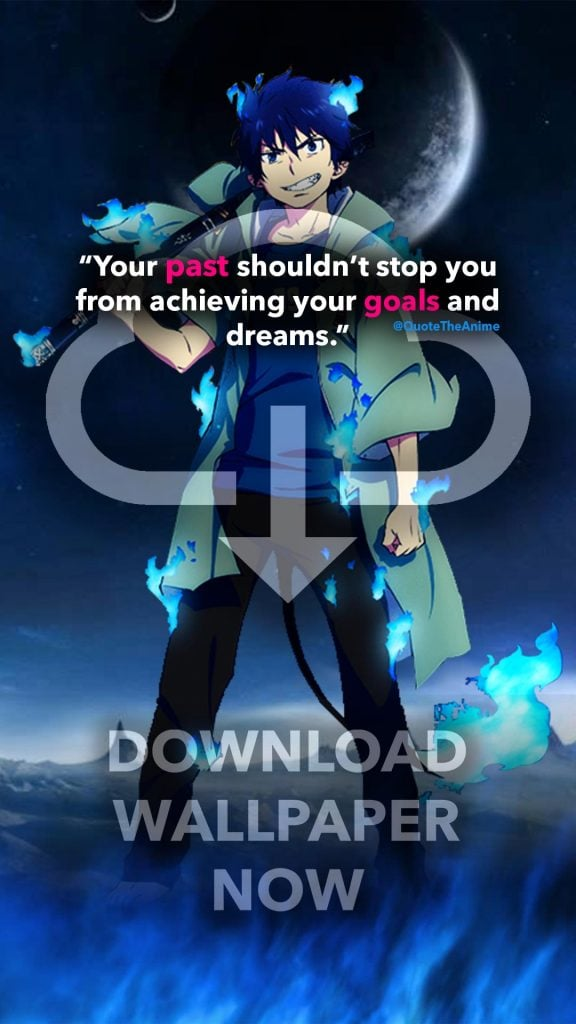 7 Powerful Blue Exorcist Quotes Rin Wallpaper