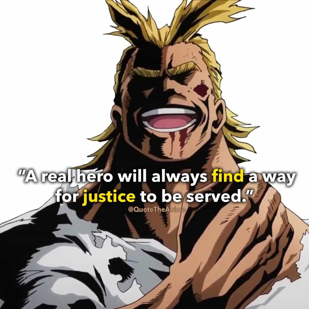 All Might Sticker - Hero always finds a way for justice to be served art