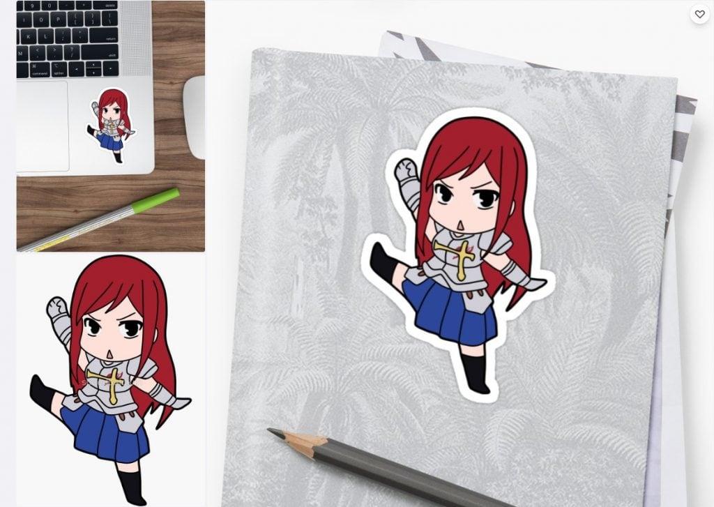 Erza Sticker
