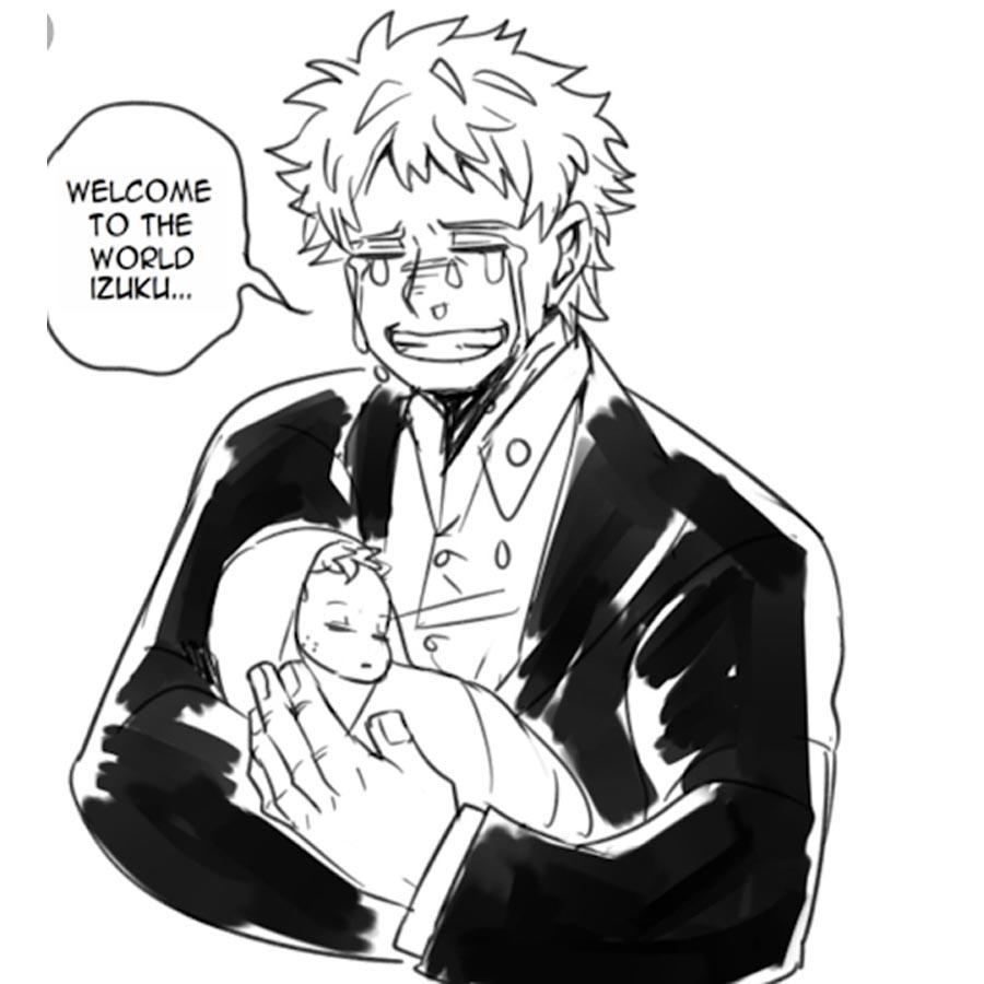 Hisashi Midoriya - holding deku as a baby
