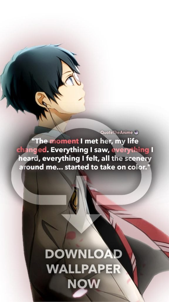 Kousei Arima Wallpaper. Your  Lie in April Wallpaper. 'The moment I her, everything changed. Life started to take on color.' Quote the Anime.