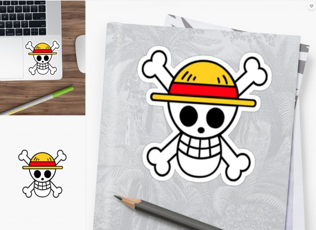One Piece Flag Sticker