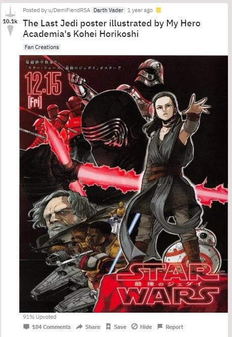 horikoshi star wars poster