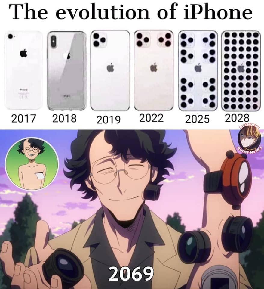Anime Memes. My Hero Academia FUNNY - Evolution of the Iphone