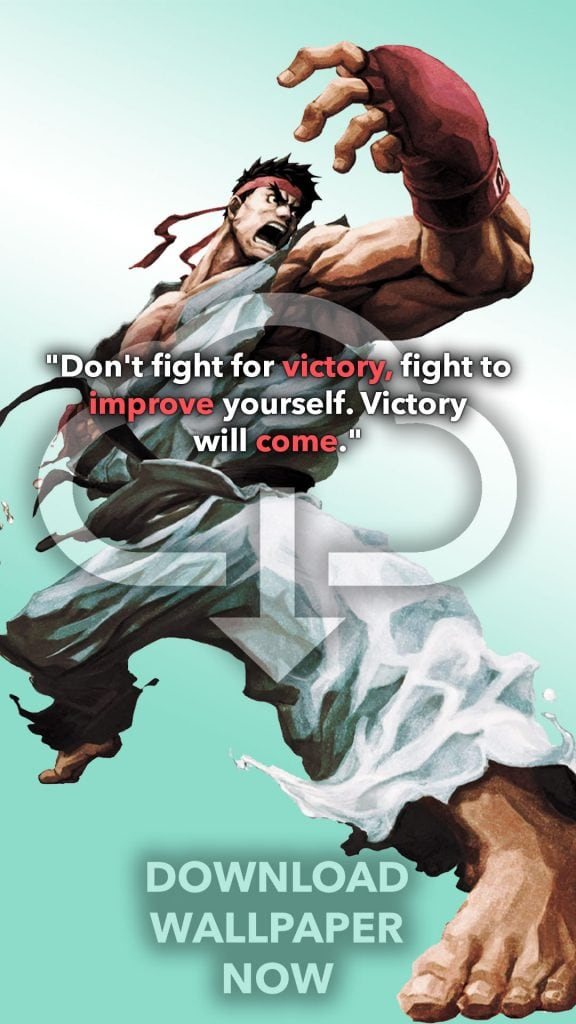 Street Fighter Wallpaper Ryu.  'To live is to fight to fight is to live.' Quote the anime