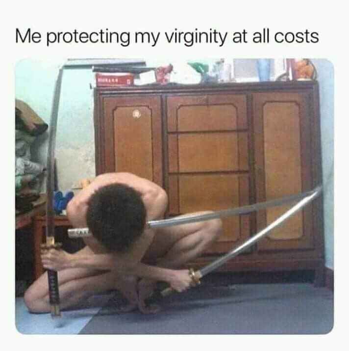 Anime meme. Zoro, One Piece Funny - Me protecting my virginity at all costs