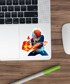 Shoto Todoroki Sticker - Become the Hero you want to be on laptop