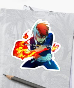 Shoto Todoroki Sticker - Become the Hero you want to be on notebook