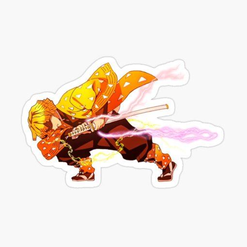 Zenitsu Sticker Demon Slayer art