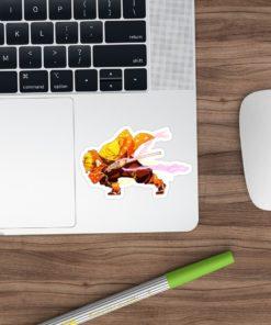 Zenitsu Sticker Demon Slayer art on laptop