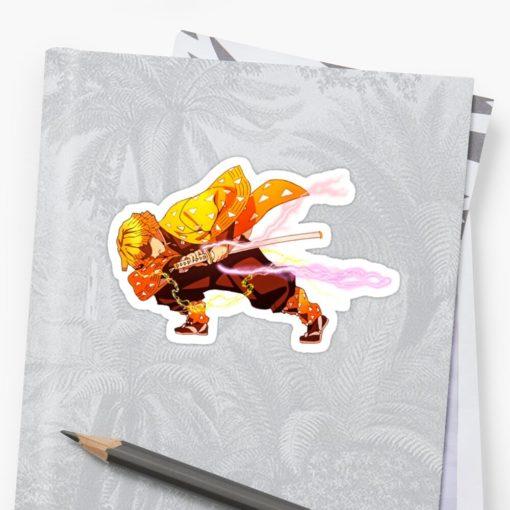 Zenitsu Sticker Demon Slayer art on notebook