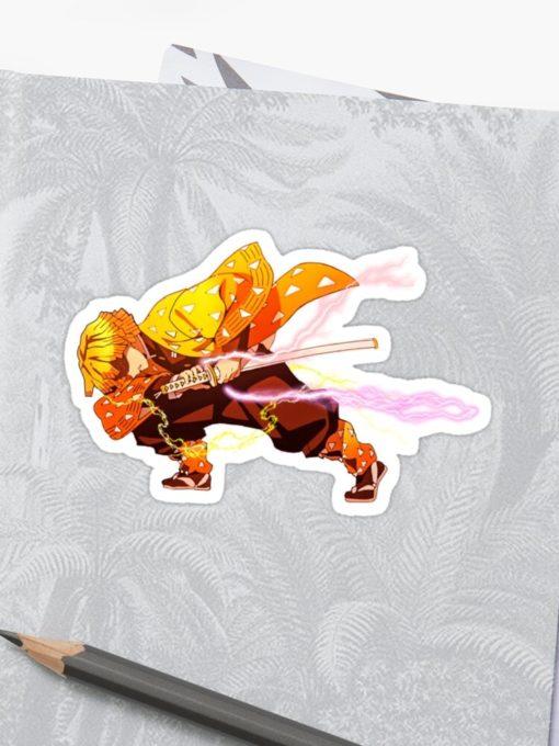 Zenitsu Sticker Demon Slayer art on notebook zoom