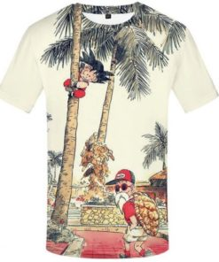 Kid-goku-and-master-roshi-t-shirt