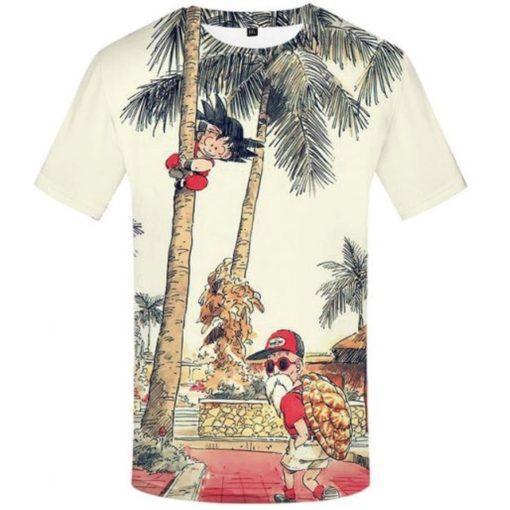 Kid-goku-and-master-roshi-t-shirt