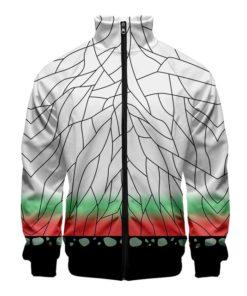 demon slayer zip up track jacket SHinobu Kocho - insect pillar