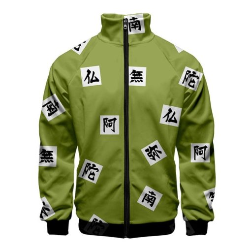demon slayer zip up track jacket Gyomei Himejima - The Stone Pillar
