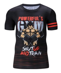 Shutp and Train Vegeta Summer workout Dragon Ball T-shirt