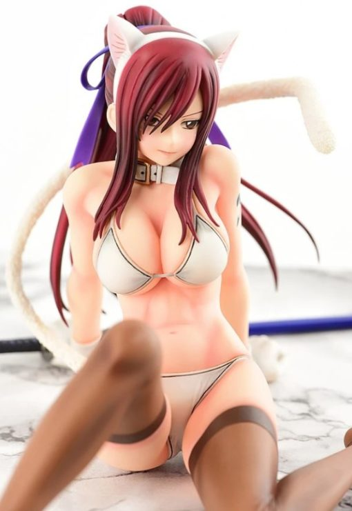 Fairy Tail OrcaToys Erza Scarlet WHITE CAT Gravure Style