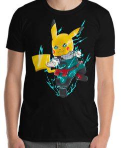 deku pikachu my hero academia black shir